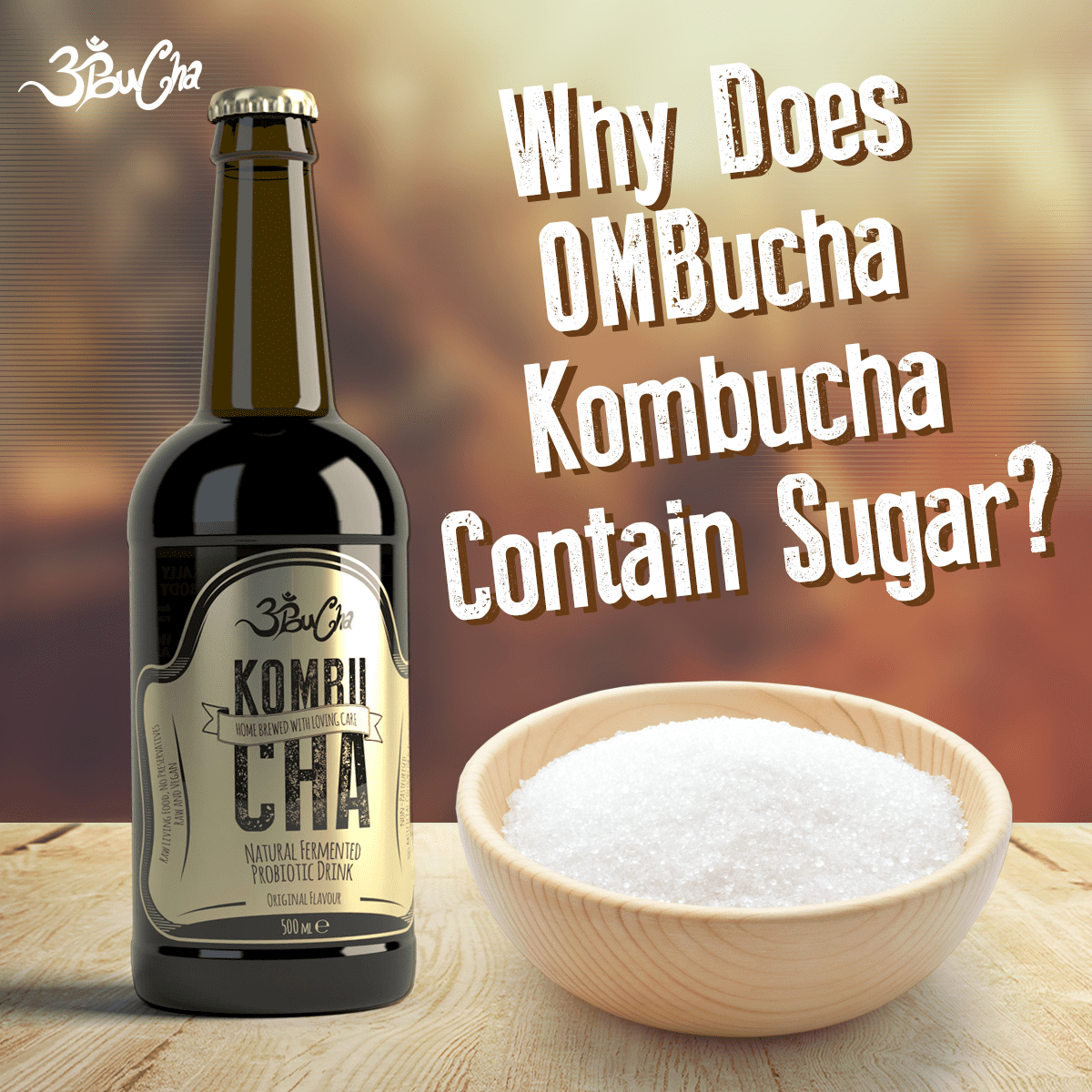 why does ombucha kombucha contain sugar