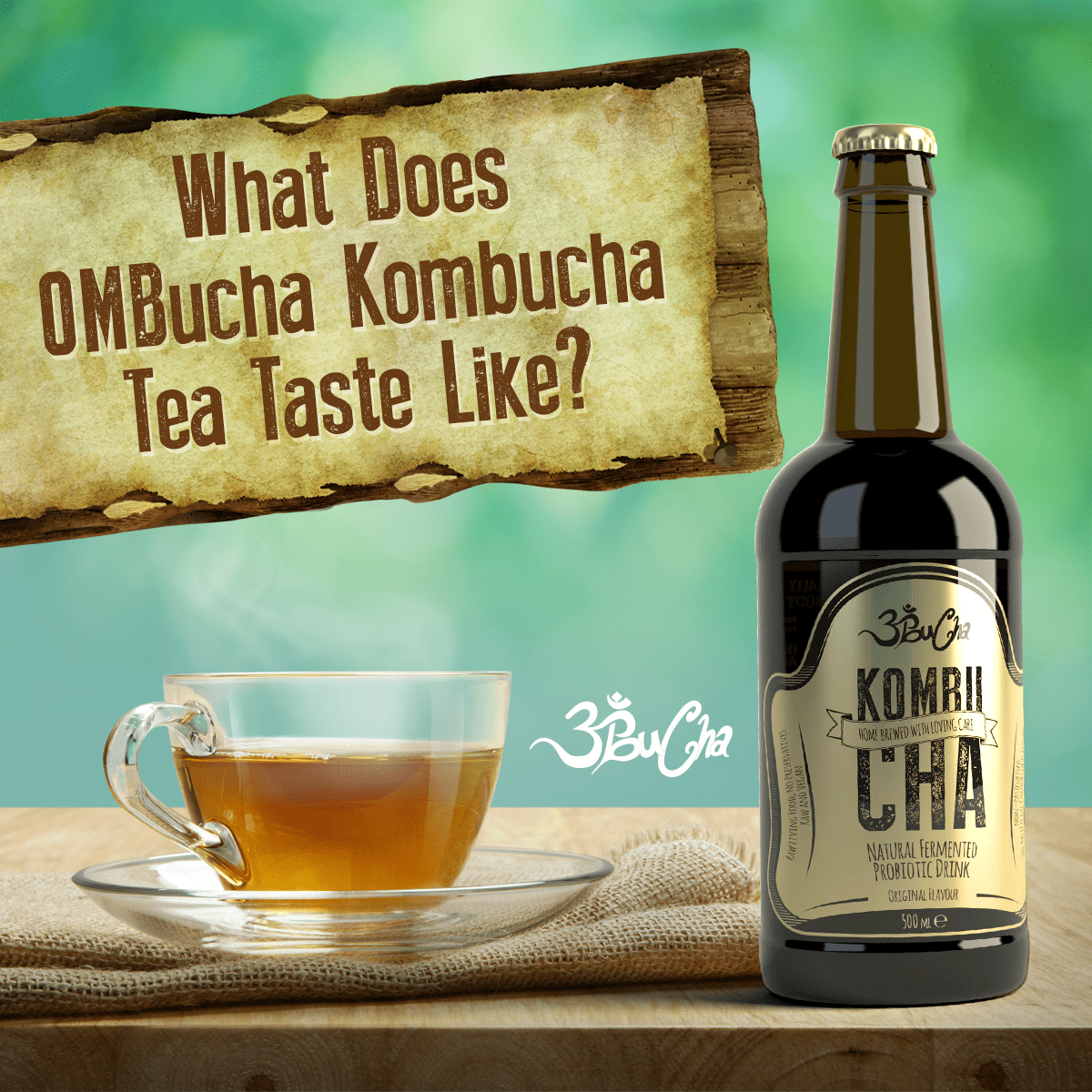 what does kombucha tea taste like