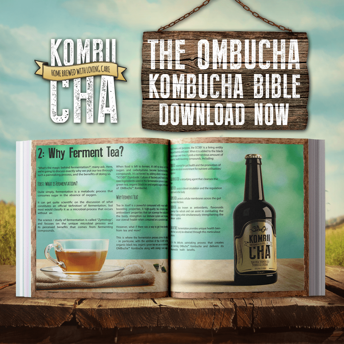 OMBucha® Kombucha free ebook Bible