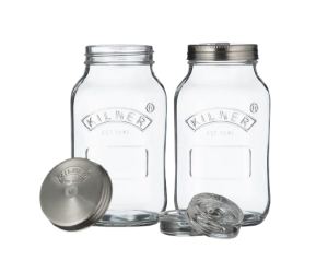 Set Of 2 Kilner Fermentation Jars 1 Litre