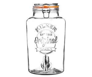 Kilner Clip Top Round Drinks Dispenser 8 Litre