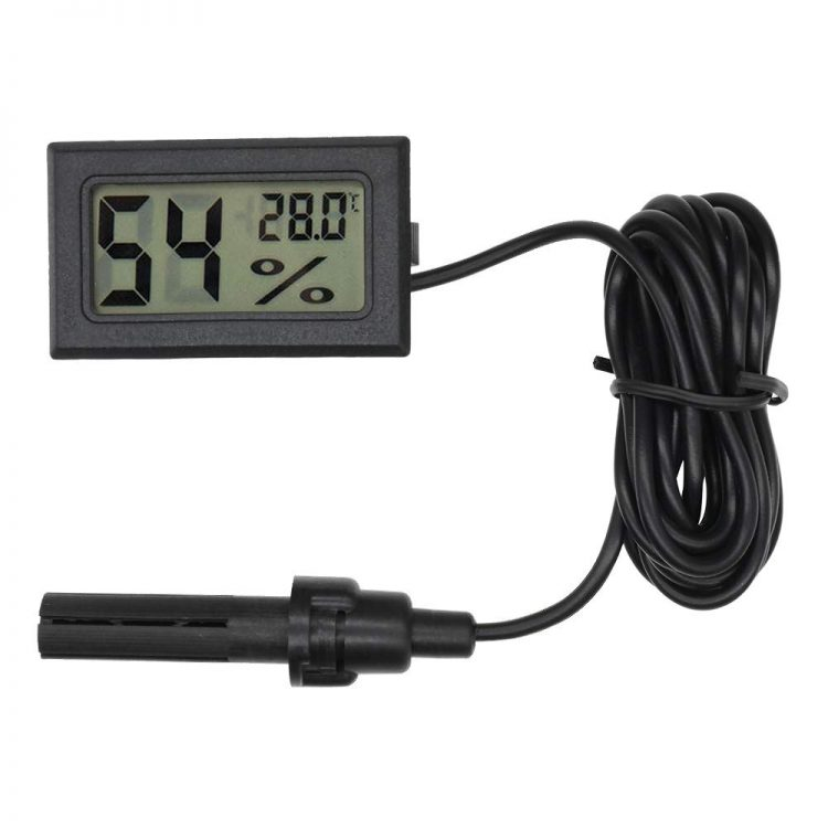 LCD Digital Mini Embedded Thermometer Hygrometer Humidity Gauge