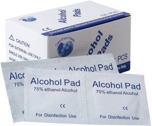 Disposable Alcohol Cotton Pad Wipes 3 x 6cm [100 pcs]